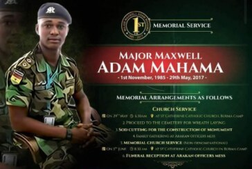 MEMORIAL SERVICE ; A YEAR ON AFTER THE DEATH OF MAJOR MAXWELL MAHAMA. WHAT NEXT?
