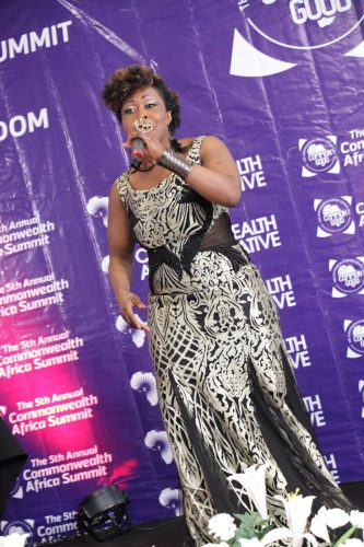 LOUISA ANNAN A RENOWNED GHANAIAN GOSPEL ARTISTE - PERFORMS AT THE COMMONWEALTH AFRICA SUMMIT, 2018.